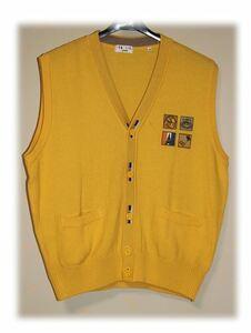 バジエスポーツ VAZIIE SPORT ベスト メンズ 紳士服 刺しゅう サイズ48 日本製 Used品