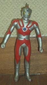 当時もの?日本製円谷プロ公認ウルトラマンエースソフビ小型人形16.5cm程 定形外250円他