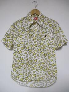 日本製 A BATHING APE アベイシングエイプ スター 総柄 半袖シャツ Sサイズ