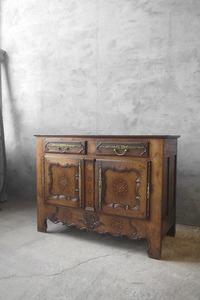 アンティーク フランス 1800年代初期 バフェキャビネット チェスト サイドボード ラック 店舗什器