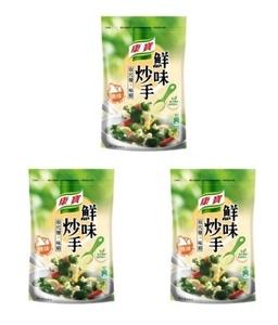 送料無料・航空便直送! 鮮味炒手 原味 500g お得 3点セット 康寶 台湾クノール 旨味調味料 鶏出汁 台湾限定