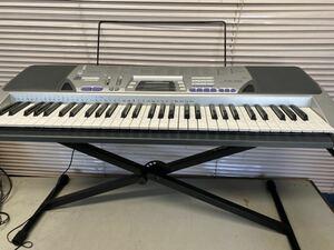 中古 CASIO カシオ 電子キーボード ベーシックキーボード CTK-496 61鍵盤 シルバー 電子ピアノ 鍵盤楽器 アダプター
