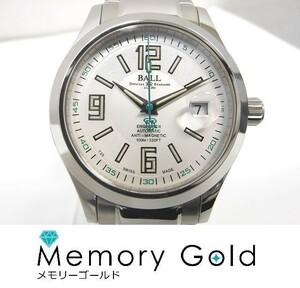 ♪BALL ボールウォッチ エンジニア NM1020C-S4J-WH 自動巻き 白文字盤 メンズ 腕時計 良品 A39084