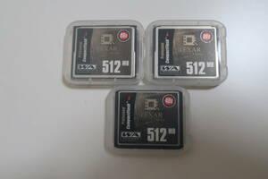 LEXAR コンパクトフラッシュカード CFカード 512MB 3枚セット!!