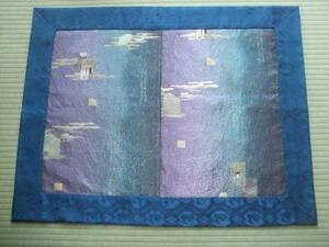 香道具・地敷・打敷・正絹新品袋帯から・別染・源氏香色紙・貴人・雅人・和歌・一点物・手縫い・各流派
