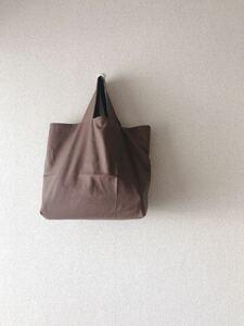 *handmade シンプルトートバッグ ::うすちゃいろ