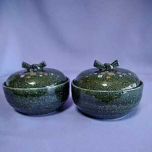 《2個》蓋付き小鉢 直径9cm 本体高さ4.5cm 蓋込高さ7.2cm