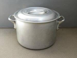 ◆ナカオアルミ キングポット KING-POTS アルミ 両手鍋 フタ付 直径24cm 7.8L◆