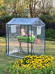 育苗用 小型 PVC素材 ビニールハウス 温室 ガーデンハウス 簡易温室 巻き上げ式 透明 家庭菜園 庭弄り 植木鉢TT312