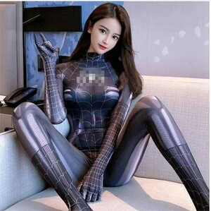 セクシーコスプレ 女スパイダーマン 全身タイツ オープンクロッチ 童貞を殺す ボディストッキング