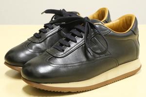 象徴モデル エルメス Hマーク クイック Hロゴ レザー スニーカー HERMES シューズ イタリア レディース 女性 革靴 ブラック 黒 36.5(23.5)