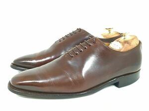 即決 送料込み REGAL リーガル 24cm メンズ ホールカット ブラウン 茶 410R 本革 革靴 日本製 ビジネスシューズ ドレスシューズ 通勤