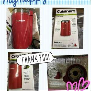 クイジナートcuisinart grinder電動コーヒーミル電動グラインダー日本未発売カラーレッドUSA