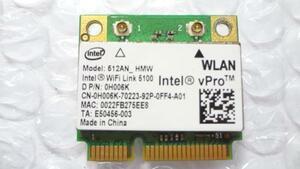 複数入荷 Intel 512AN_HMW WiFi Link 5100 MiniPCI-Ex対応 無線LANカード 中古動作品(MS26)