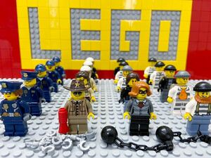 ☆ポリス☆ レゴ ミニフィグ 大量20体 警察官 警官 泥棒 囚人 強盗 ( LEGO 人形 シティ