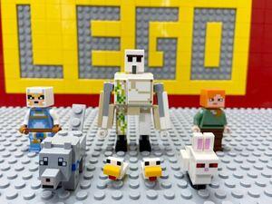 ☆マインクラフト☆ レゴ ミニフィグ ゴーレム スキン ウサギ 鶏 オオカミ ( LEGO 人形 動物 マイクラ