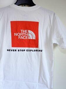 送料込み ★ THE NORTH FACE ノースフェイス スクエアロゴ 半袖Tシャツ / US メンズXL / ホワイトレッド ★