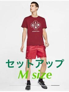 新品セットアップ! NIKE LAB GYAKUSOU ランニングTシャツ パンツ M/ ナイキ undercover コラボ 別注 マラソン 半袖 Tシャツ ショートパンツ