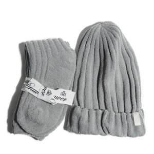 B5697f18 ▼Drawer ドゥロワー▼ 新品 2020AW クリスマスノベルティ ルームソックス 帽子 セット グレー 限定 非売品 秋冬