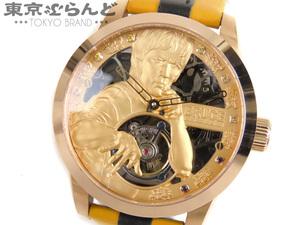 101497520 メモリジン MEMORIGIN トゥールビヨン ブルースリー 限定モデル 腕時計 手巻き MO1005G スケルトン ゴールド メンズ 時計