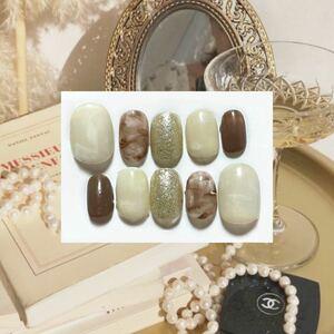 ネイルチップ ビーズ ベリーショート クルール クレドポーボーテ 量産型 キラキラ ラメ ゴールド 大理石
