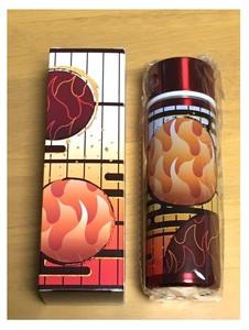 (1火炎模様/煉獄杏寿郎)「水筒」鬼滅の刃模様柄 ステンレスミニボトル 約150ml 飲みきりサイズ水筒[送料込み]
