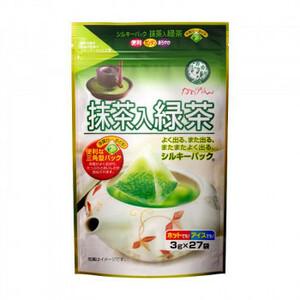 宇治森徳 抹茶入緑茶 シルキーパック (3g×27P)×10袋(a-1610092)