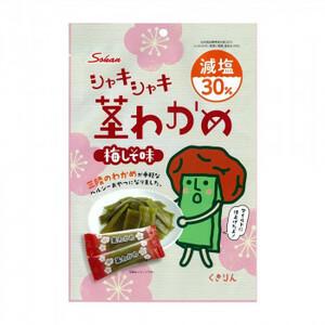 壮関 減塩茎わかめ 梅しそ味 100g×72袋(a-1665903)