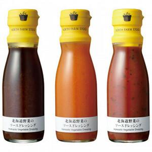 ノースファームストック 北海道野菜のソースドレッシング 150ml 3種 オニオン/トマト/キャロット 4セット(a-1650377)