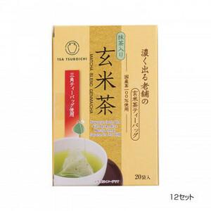 つぼ市製茶本舗 濃く出る老舗の玄米茶 ティーバッグ 40g 12セット(a-1628007)