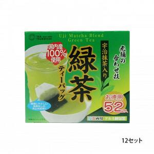 つぼ市製茶本舗 宇治抹茶入り緑茶 ティーバッグ 104g 12セット(a-1627984)
