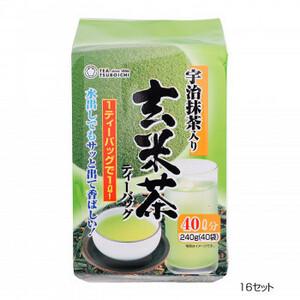 つぼ市製茶本舗 宇治抹茶入り玄米茶 ティーバッグ 240g 16セット(a-1628006)