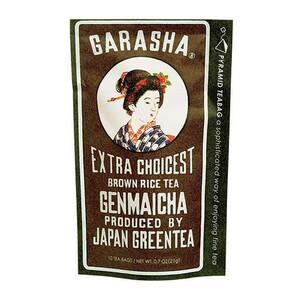 GARASHA 日本製 緑茶 ティーバッグ玄米茶 10TB×12セット 20315(a-1460545)
