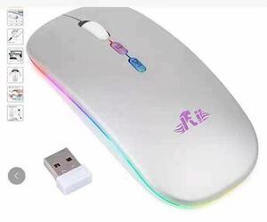 Riitekワイヤレスマウス 充電式 長時間連続使用 無線マウス 静音 超薄型
