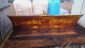 A【石3012103有】タイヤショベル排土板CAT910用 ホイールローダー巾2.5m 油圧 ピンシャフト