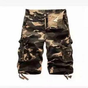 6色 メンズカーゴパンツ ショートパンツ ハーフパンツ 短パンワークパンツ ミリタリー パンツ 迷彩柄 夏物 作業着