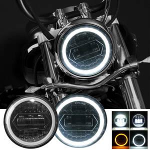 1個 クリスタルスタイル 5.75インチ LEDヘッドライト ハーレースポーツスター DRL ハーレーダビッドソンダイナ用オートバイプロジェクター