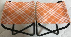 ミニチェアー 折りたたみ椅子 アウトドアチェア 持ち運び Rainbow製 2個
