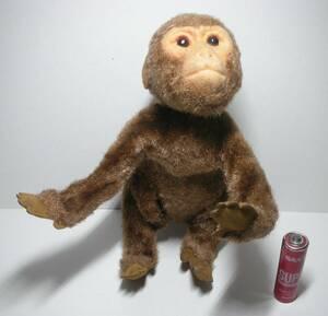 おサルさん 猿 モンキー Monkey 起毛人形 ポーズ人形 昭和レトロ