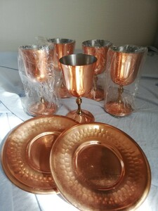 銅製ゴブレット ワイングラス未使用