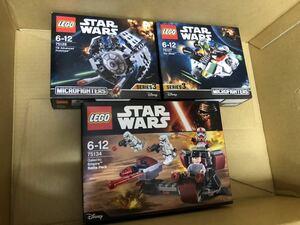 3個セット レゴ LEGO 75134 スターウォーズ 銀河帝国 75128 マイクロファイター 75127 マイクロファイター ゴースト 新品未開封品