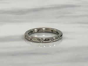 【中古美品】TIFFANY&Co. ティファニー ビゼット リング 指輪 pt950 ダイヤ 約12号