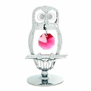 フクロウ 置物 s2 スワロフスキー SWAROVSKI クリスタル ギフト 誕生日 プレゼント 縁起物 男性 女性 お祝い 置き物