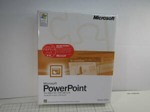 ★☆075:Microsoft Power Point Version2002 アカデミック製品版☆★