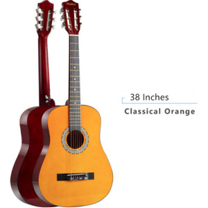 G3314 38/39インチの古典的なギター初心者6弦クラシック木製ギター練習ショーギター新年のクリスマスギフト