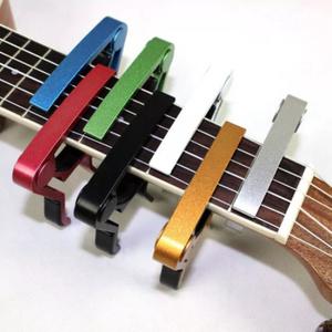 G3372 ユニバーサルカポギターアクセサリークイックチェンジ クランプキーのアルミ合金金属アコースティッククラシックギターカポ用