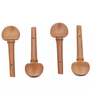 G3639 4 個バイオリンチューニングペグセットマホガニー黒檀 4/4 バイオリンパートのチューニングペグチューナーオープン穴弦