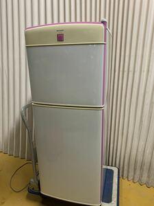(中古品)SHARP シャープ 2ドア 冷凍冷蔵庫 SJ-14V5-JR、2003年製。