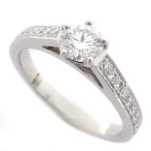 即決 ショーメ フリソン ソリテール ハーフエタニティ リング・指輪 レディース Pt950プラチナ ダイヤモンド ジュエリー 7.5号 プラチナ