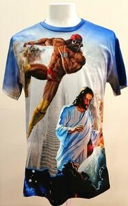 送料込み!【XXLサイズ】ランディー・サベージ キリスト WWE WWF プロレス Tシャツ